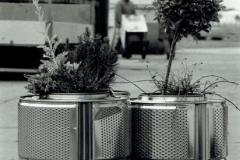 Waschmaschinentrommeln zu Blumentöpfen